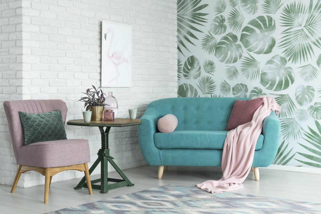 Round sofa with design